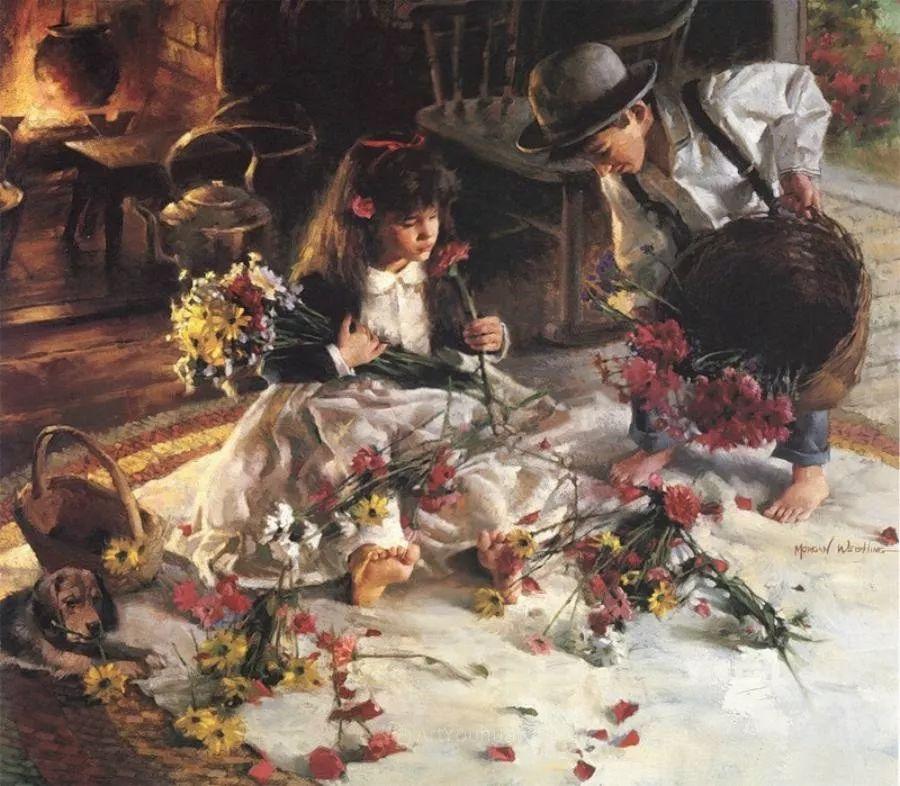 最平凡的幸福,有爱的儿童油画!美国画家摩根·威斯特林作品集一插图50