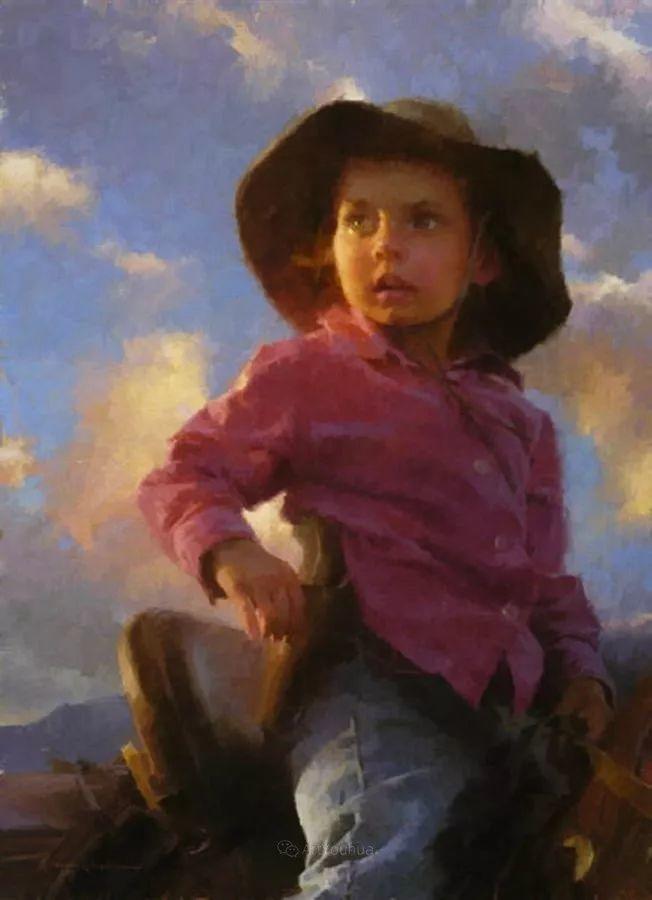 最平凡的幸福,有爱的儿童油画!美国画家摩根·威斯特林作品集一插图53