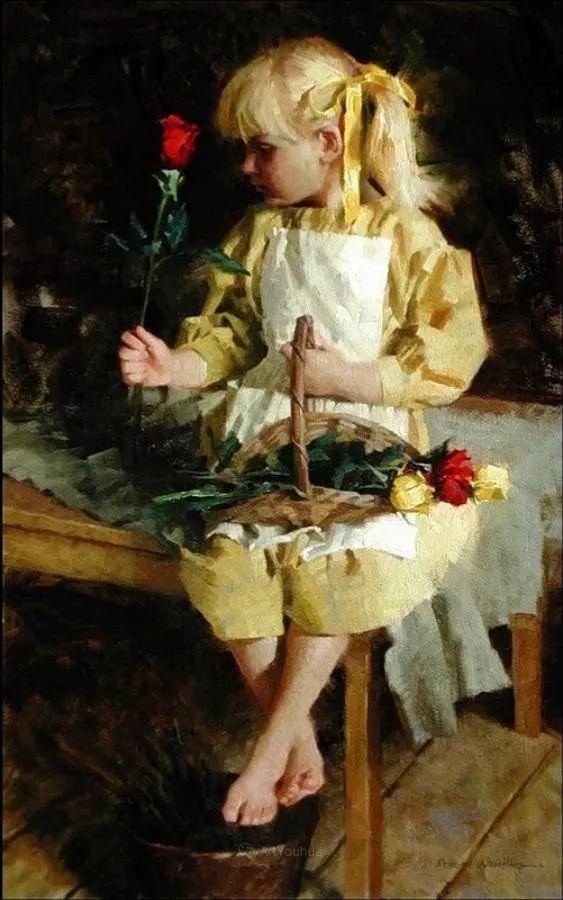 最平凡的幸福,有爱的儿童油画!美国画家摩根·威斯特林作品集一插图55