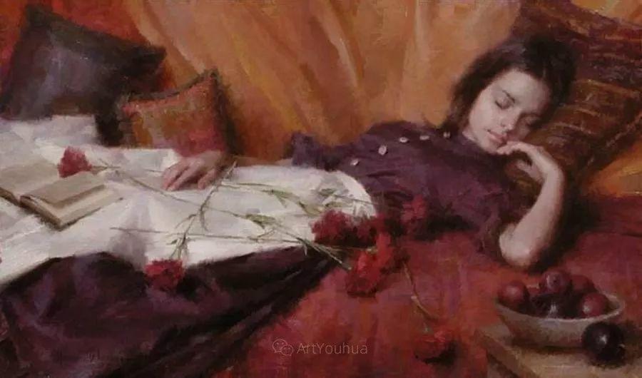 最平凡的幸福,有爱的儿童油画!美国画家摩根·威斯特林作品集一插图57