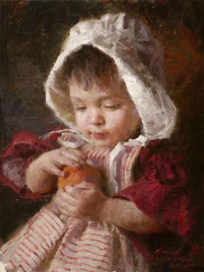 最平凡的幸福,有爱的儿童油画!美国画家摩根·威斯特林作品集一插图58