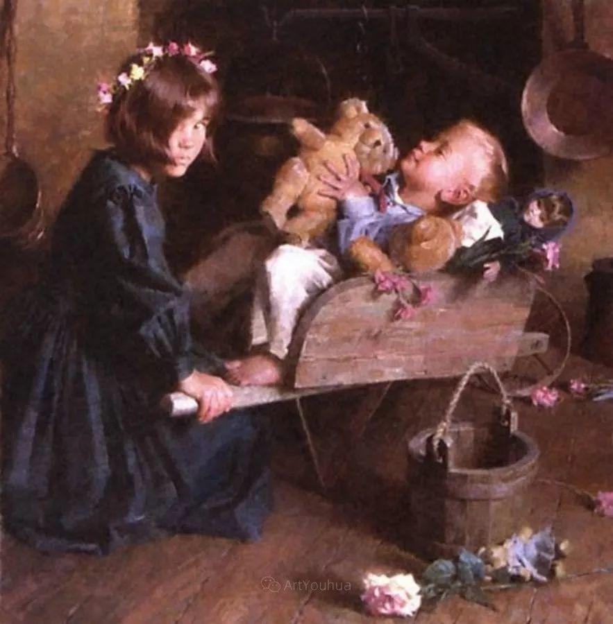 最平凡的幸福,有爱的儿童油画!美国画家摩根·威斯特林作品集一插图60