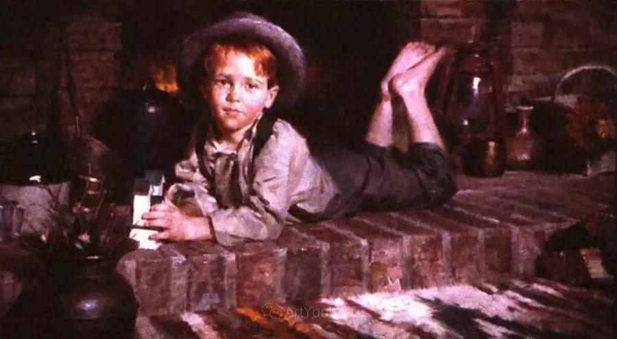 最平凡的幸福,有爱的儿童油画!美国画家摩根·威斯特林作品集一插图64