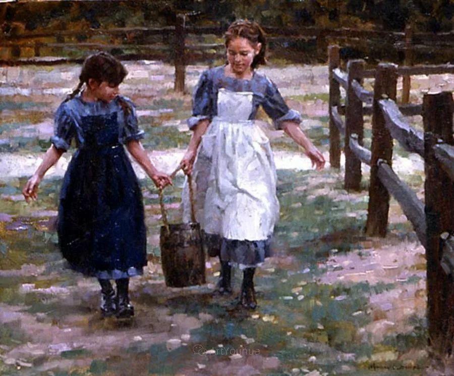 最平凡的幸福,有爱的儿童油画!美国画家摩根·威斯特林作品集一插图65