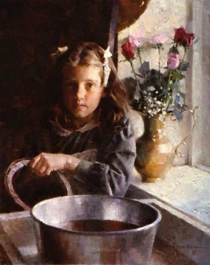 最平凡的幸福,有爱的儿童油画!美国画家摩根·威斯特林作品集一插图66