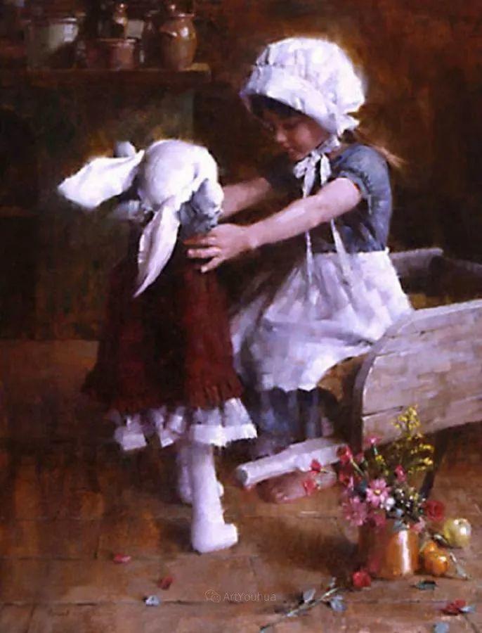 最平凡的幸福,有爱的儿童油画!美国画家摩根·威斯特林作品集一插图67