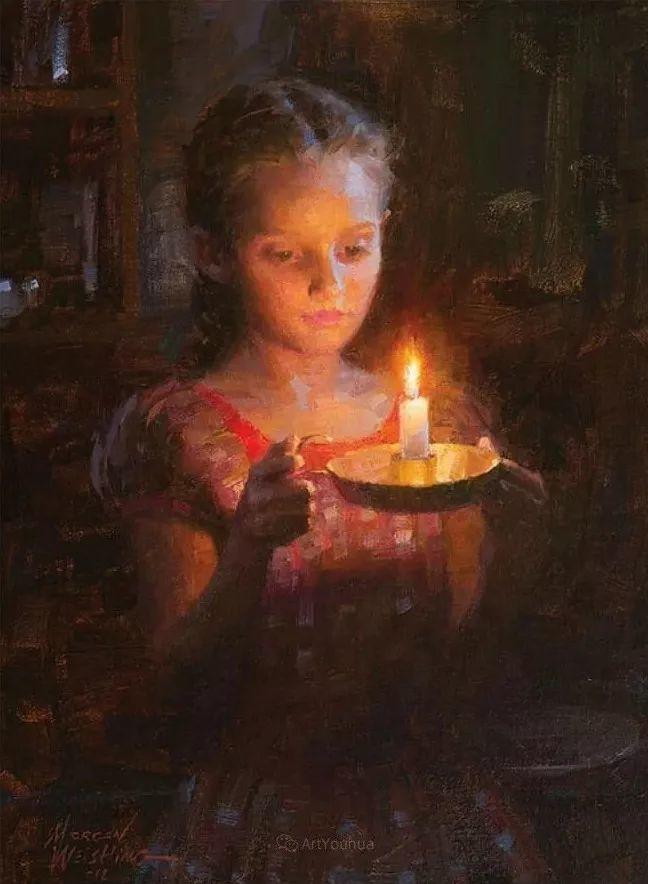 最平凡的幸福,有爱的儿童油画!美国画家摩根·威斯特林作品集一插图69