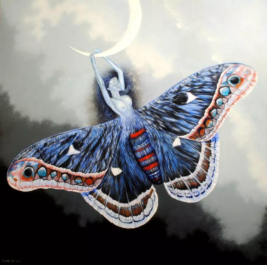 幻想和想象世界,波兰画家马里乌斯·兹德巴插图