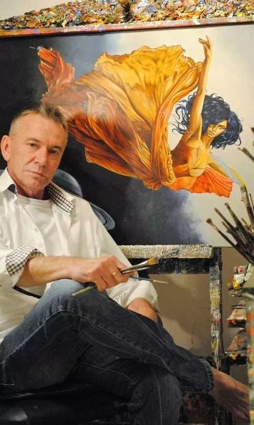 幻想和想象世界,波兰画家马里乌斯·兹德巴插图1