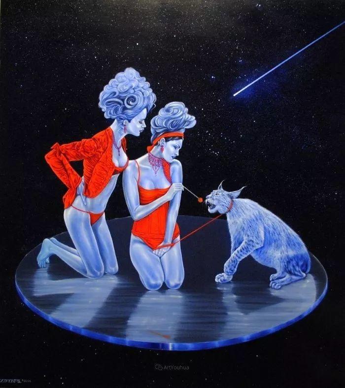 幻想和想象世界,波兰画家马里乌斯·兹德巴插图15
