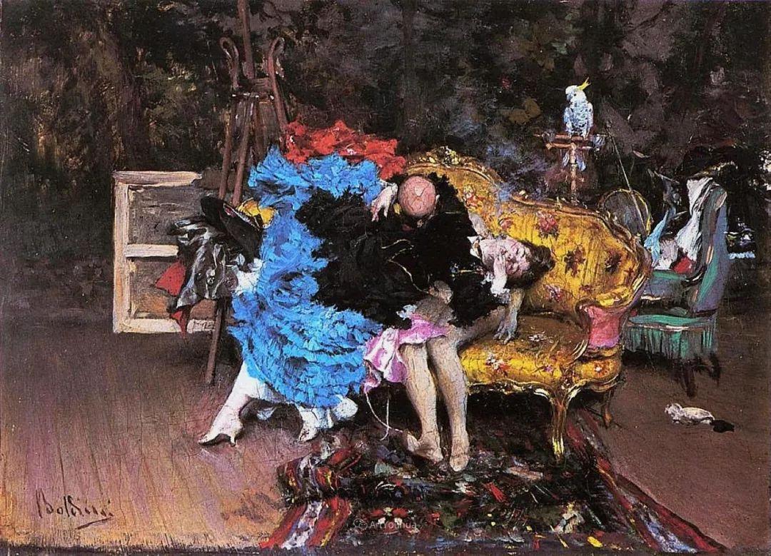 两种不同画风的美女,你喜欢哪一种!意大利画家Giovanni Boldini作品集插图10