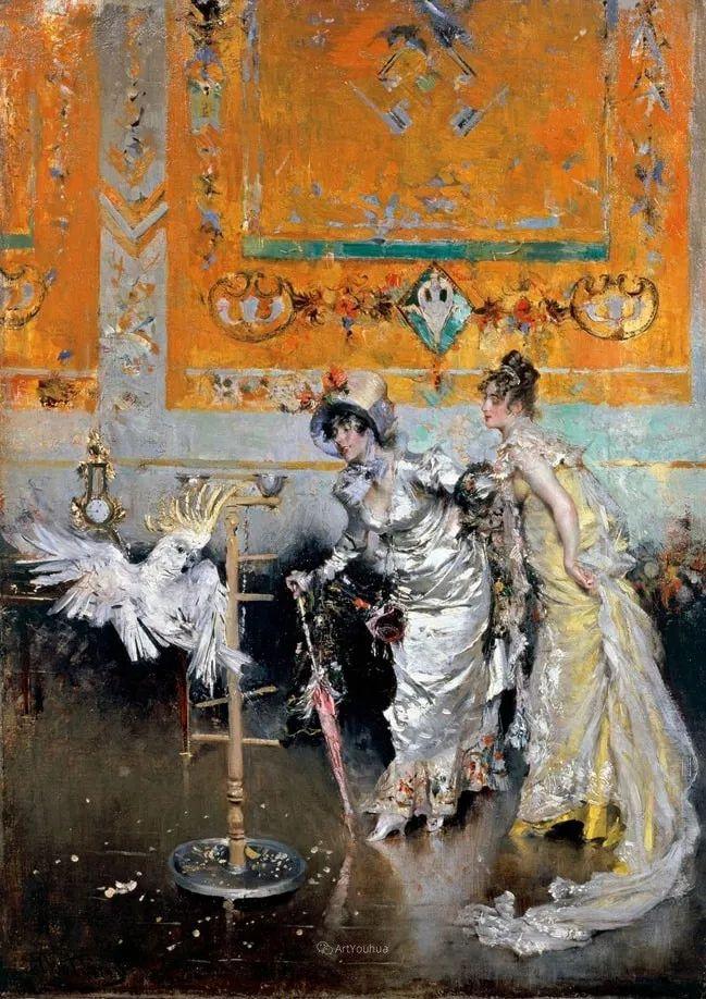 两种不同画风的美女,你喜欢哪一种!意大利画家Giovanni Boldini作品集插图11