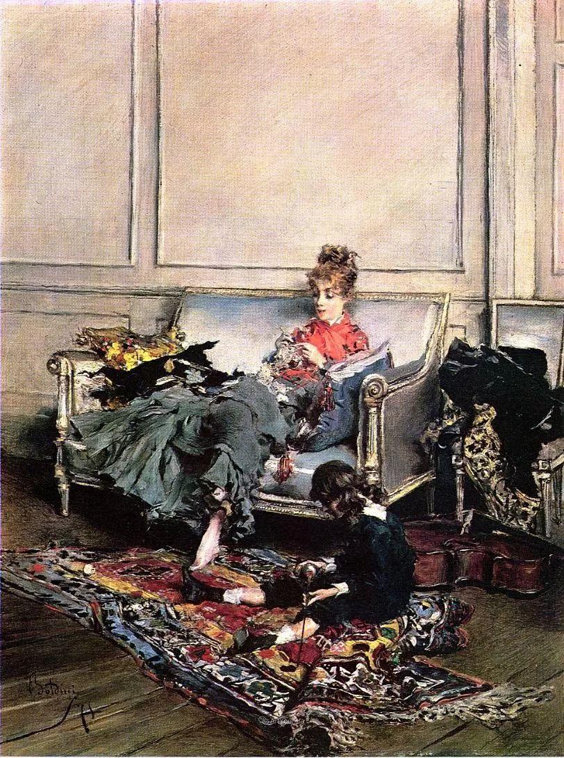 两种不同画风的美女,你喜欢哪一种!意大利画家Giovanni Boldini作品集插图15
