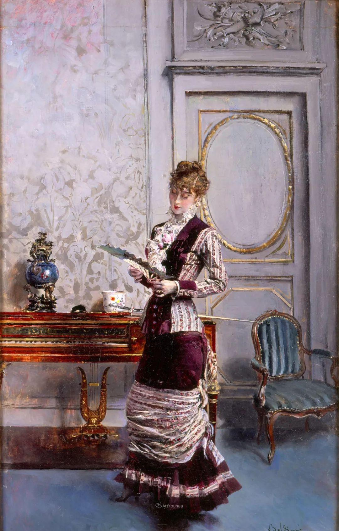 两种不同画风的美女,你喜欢哪一种!意大利画家Giovanni Boldini作品集插图17