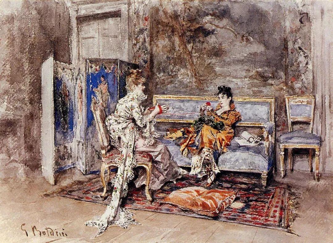 两种不同画风的美女,你喜欢哪一种!意大利画家Giovanni Boldini作品集插图18