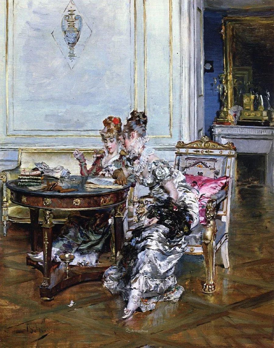 两种不同画风的美女,你喜欢哪一种!意大利画家Giovanni Boldini作品集插图21
