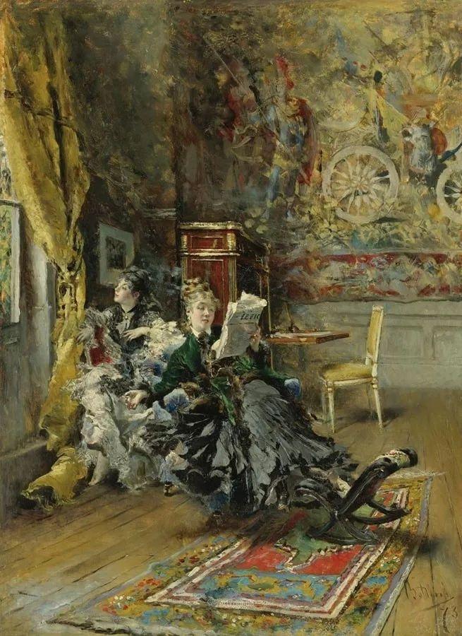 两种不同画风的美女,你喜欢哪一种!意大利画家Giovanni Boldini作品集插图24