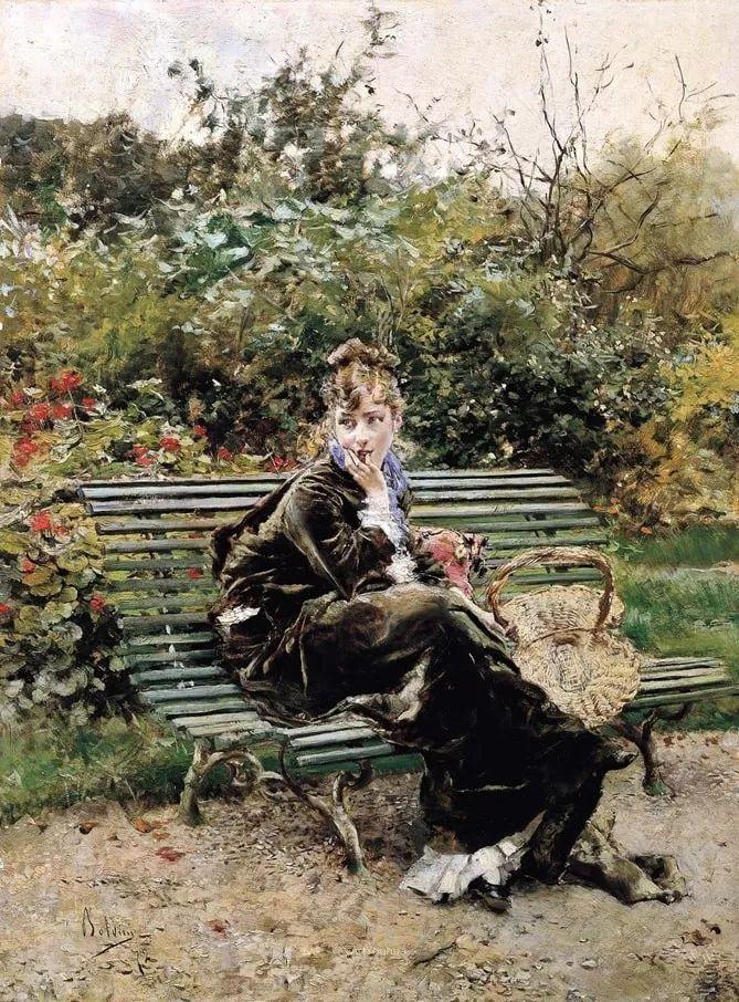 两种不同画风的美女,你喜欢哪一种!意大利画家Giovanni Boldini作品集插图28