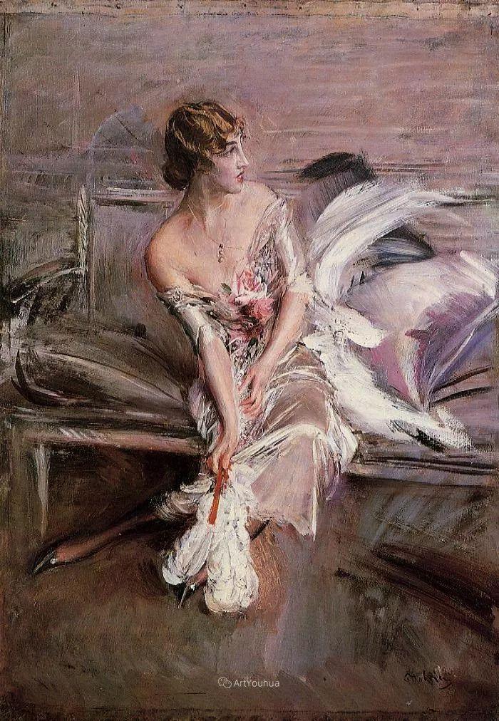 两种不同画风的美女,你喜欢哪一种!意大利画家Giovanni Boldini作品集插图30