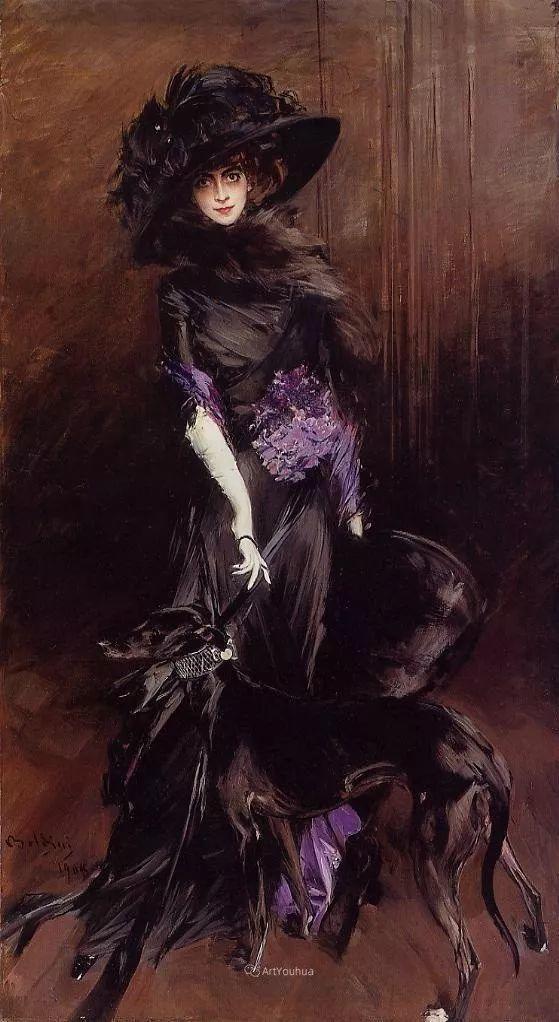 两种不同画风的美女,你喜欢哪一种!意大利画家Giovanni Boldini作品集插图31