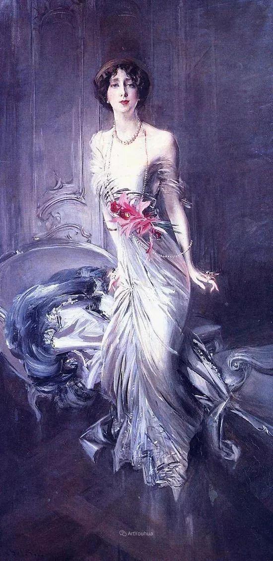 两种不同画风的美女,你喜欢哪一种!意大利画家Giovanni Boldini作品集插图32