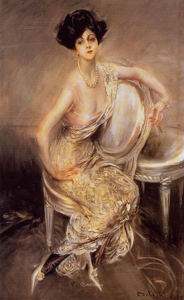 两种不同画风的美女,你喜欢哪一种!意大利画家Giovanni Boldini作品集插图35