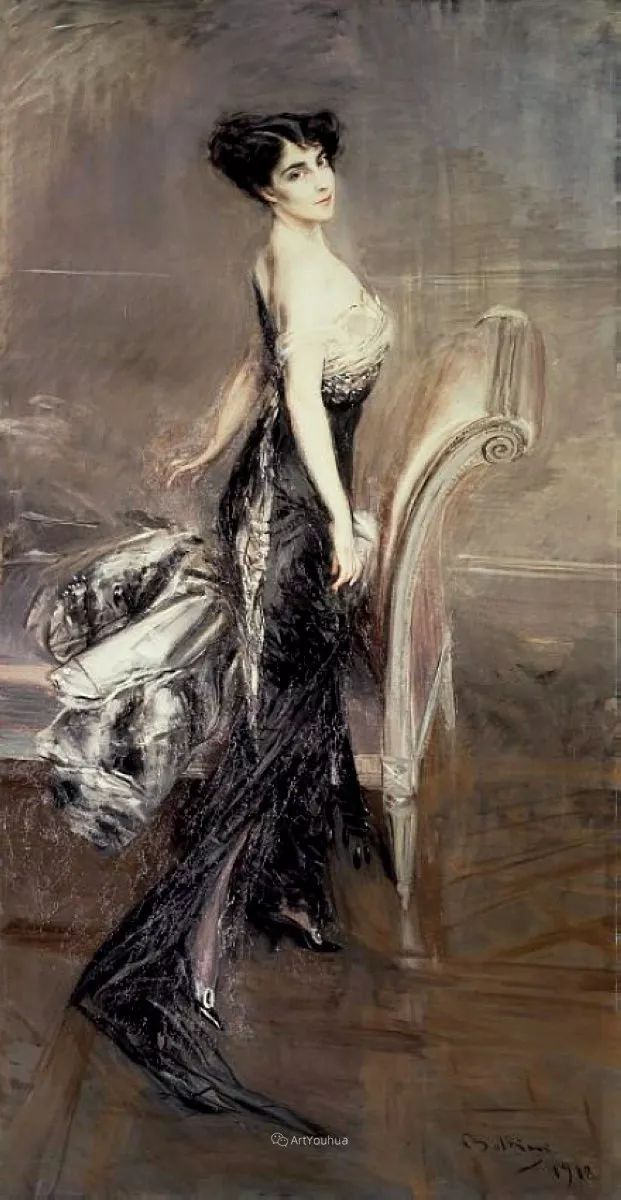两种不同画风的美女,你喜欢哪一种!意大利画家Giovanni Boldini作品集插图37