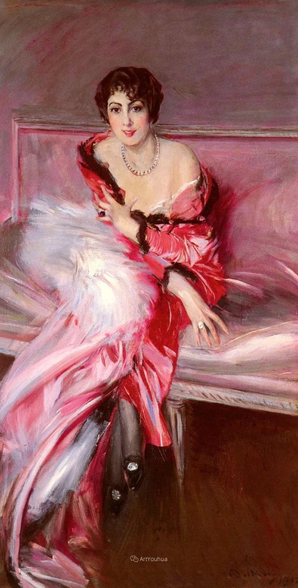 两种不同画风的美女,你喜欢哪一种!意大利画家Giovanni Boldini作品集插图38