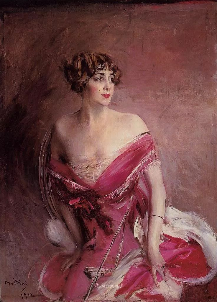 两种不同画风的美女,你喜欢哪一种!意大利画家Giovanni Boldini作品集插图39
