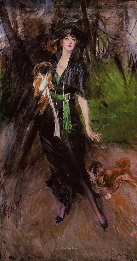 两种不同画风的美女,你喜欢哪一种!意大利画家Giovanni Boldini作品集插图40