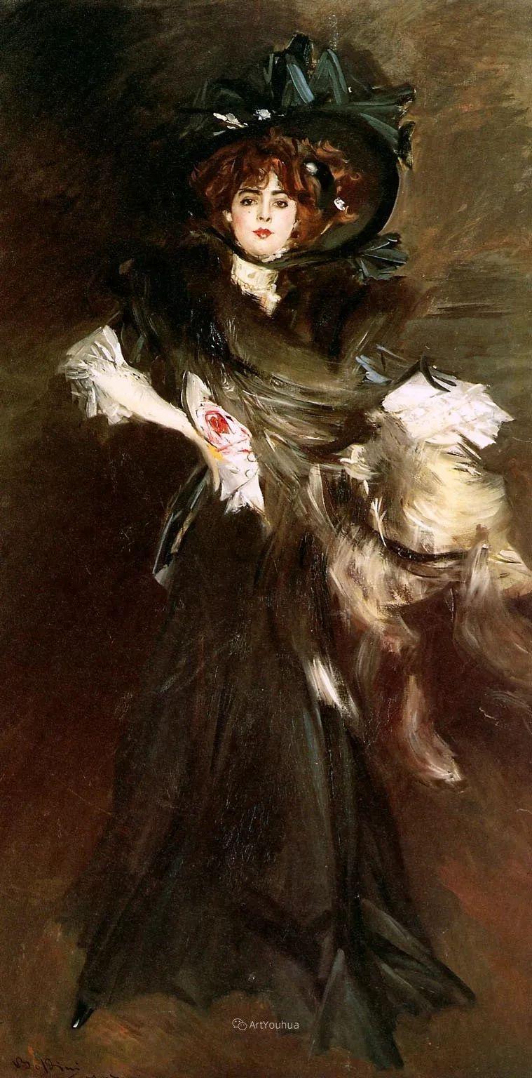 两种不同画风的美女,你喜欢哪一种!意大利画家Giovanni Boldini作品集插图41