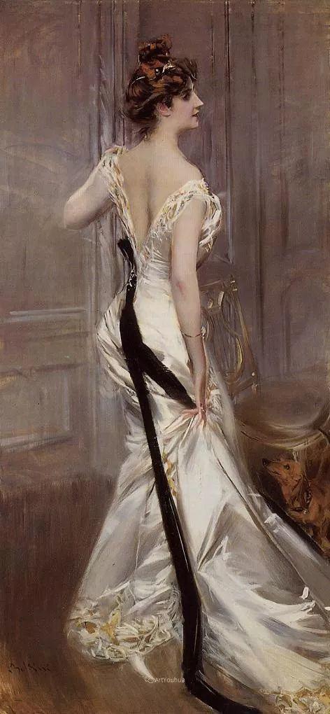两种不同画风的美女,你喜欢哪一种!意大利画家Giovanni Boldini作品集插图43