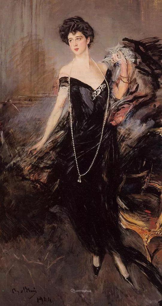 两种不同画风的美女,你喜欢哪一种!意大利画家Giovanni Boldini作品集插图44