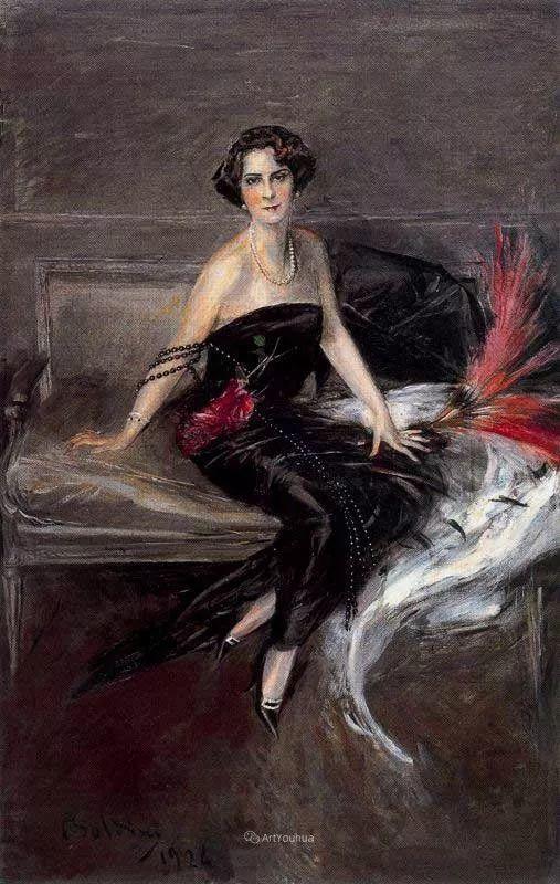 两种不同画风的美女,你喜欢哪一种!意大利画家Giovanni Boldini作品集插图45