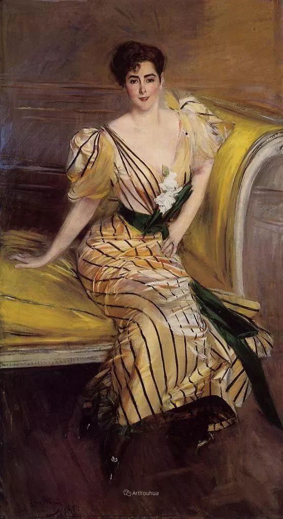 两种不同画风的美女,你喜欢哪一种!意大利画家Giovanni Boldini作品集插图46