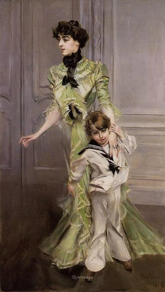 两种不同画风的美女,你喜欢哪一种!意大利画家Giovanni Boldini作品集插图47