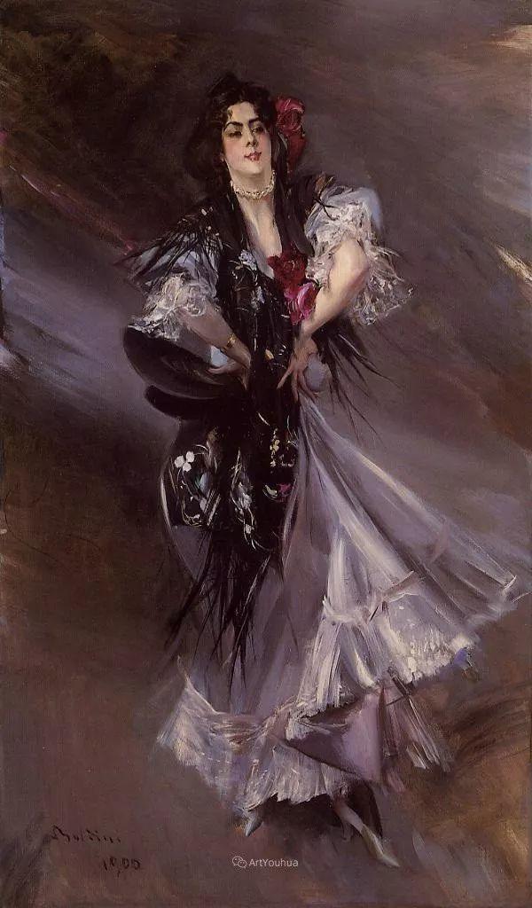 两种不同画风的美女,你喜欢哪一种!意大利画家Giovanni Boldini作品集插图48