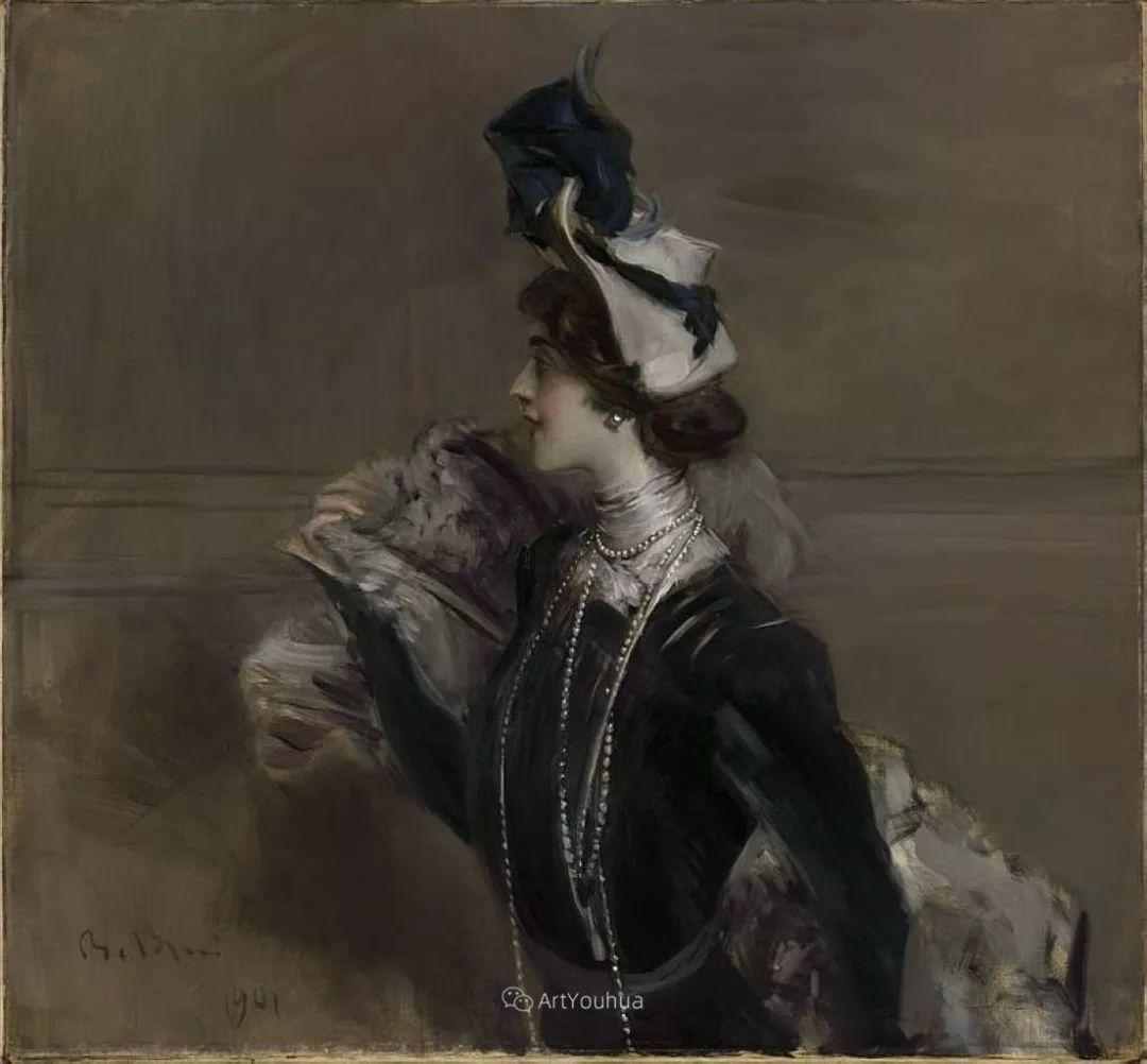 两种不同画风的美女,你喜欢哪一种!意大利画家Giovanni Boldini作品集插图49