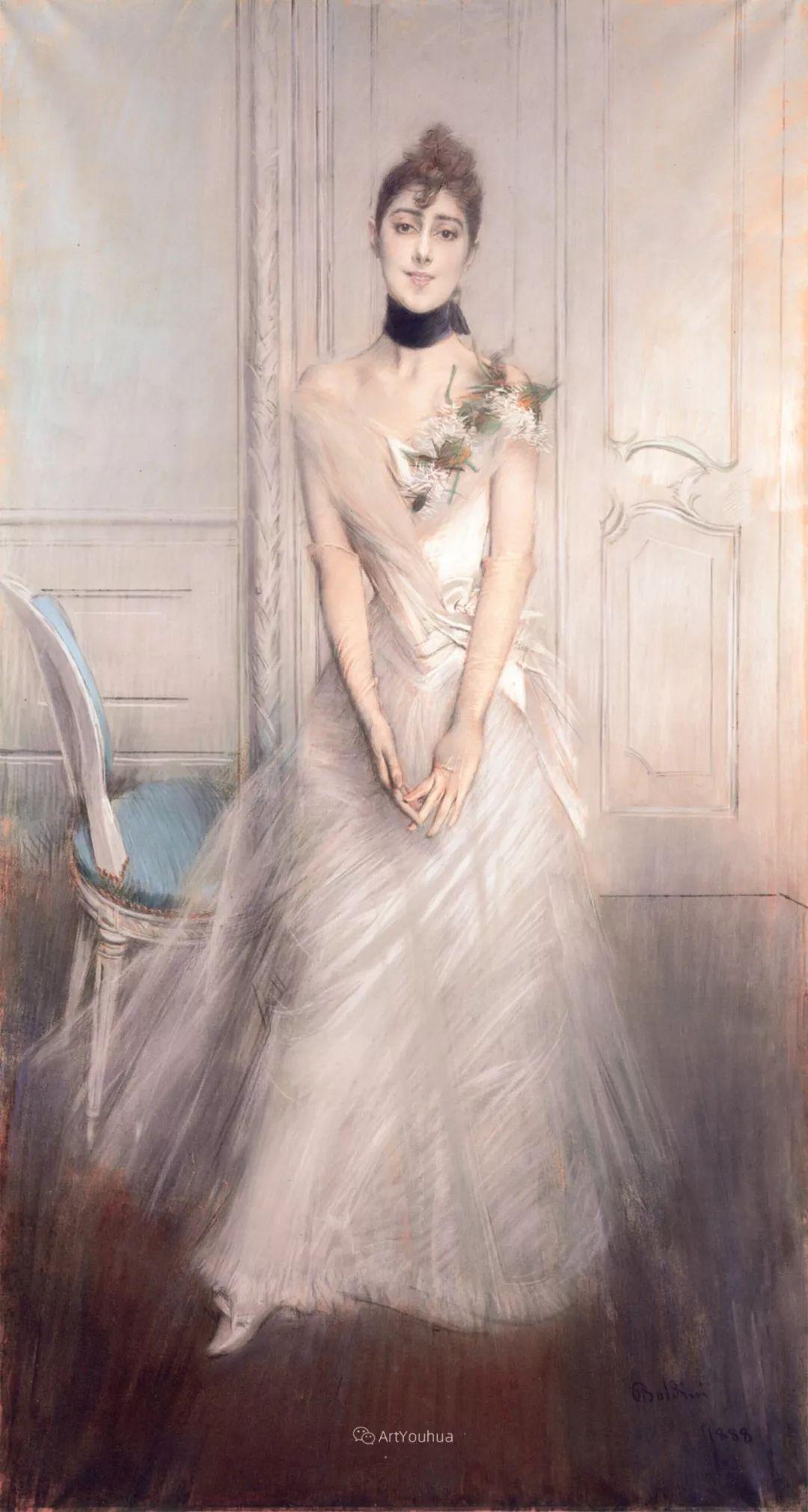 两种不同画风的美女,你喜欢哪一种!意大利画家Giovanni Boldini作品集插图50