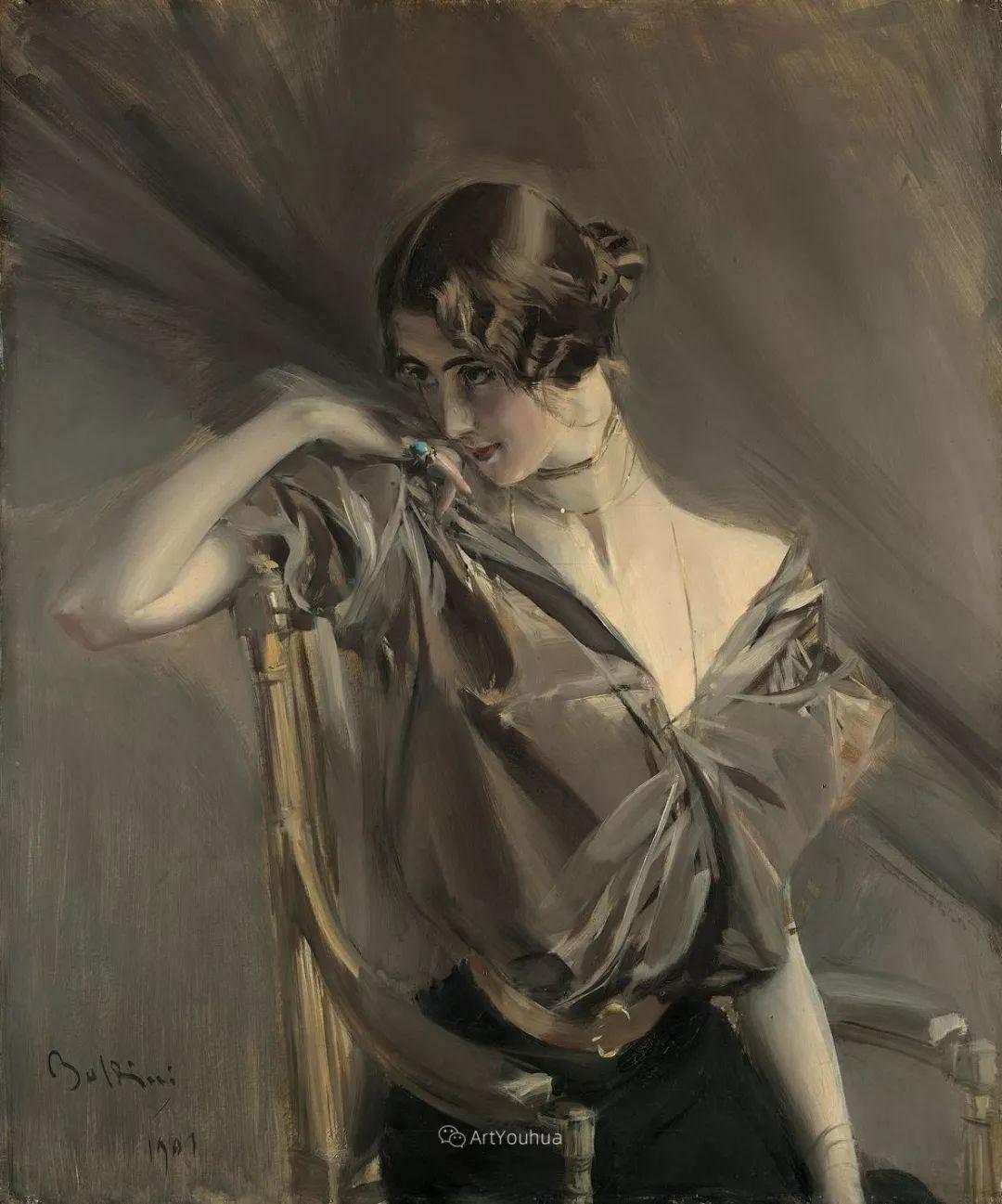 两种不同画风的美女,你喜欢哪一种!意大利画家Giovanni Boldini作品集插图51