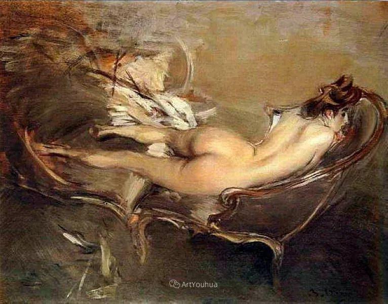 两种不同画风的美女,你喜欢哪一种!意大利画家Giovanni Boldini作品集插图58