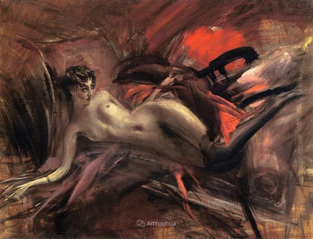 两种不同画风的美女,你喜欢哪一种!意大利画家Giovanni Boldini作品集插图59