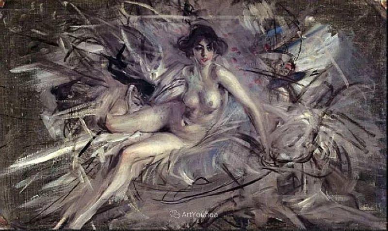两种不同画风的美女,你喜欢哪一种!意大利画家Giovanni Boldini作品集插图63
