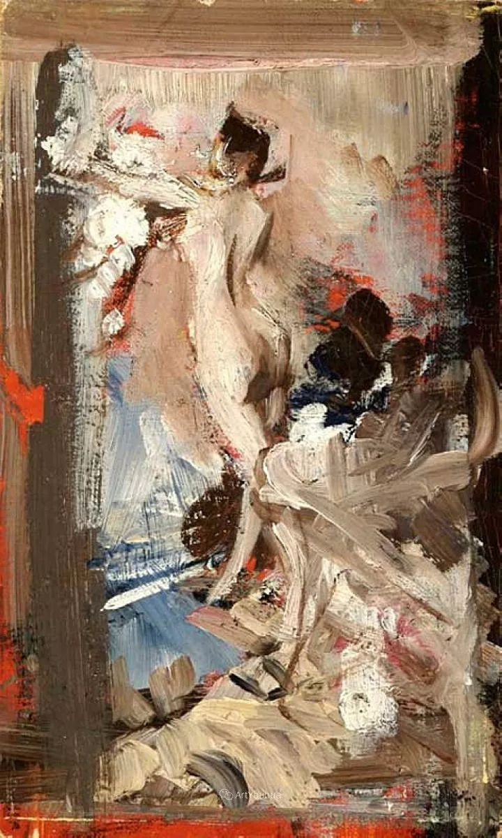 两种不同画风的美女,你喜欢哪一种!意大利画家Giovanni Boldini作品集插图66