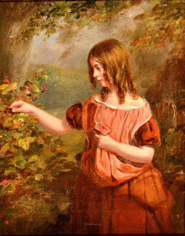 农村生活场景,爱尔兰画家威廉·穆雷迪插图