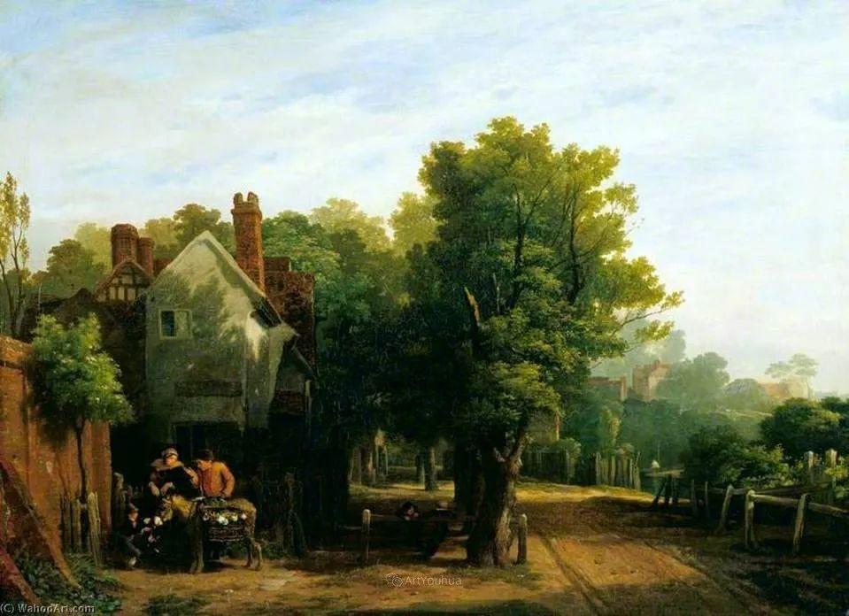 农村生活场景,爱尔兰画家威廉·穆雷迪插图1