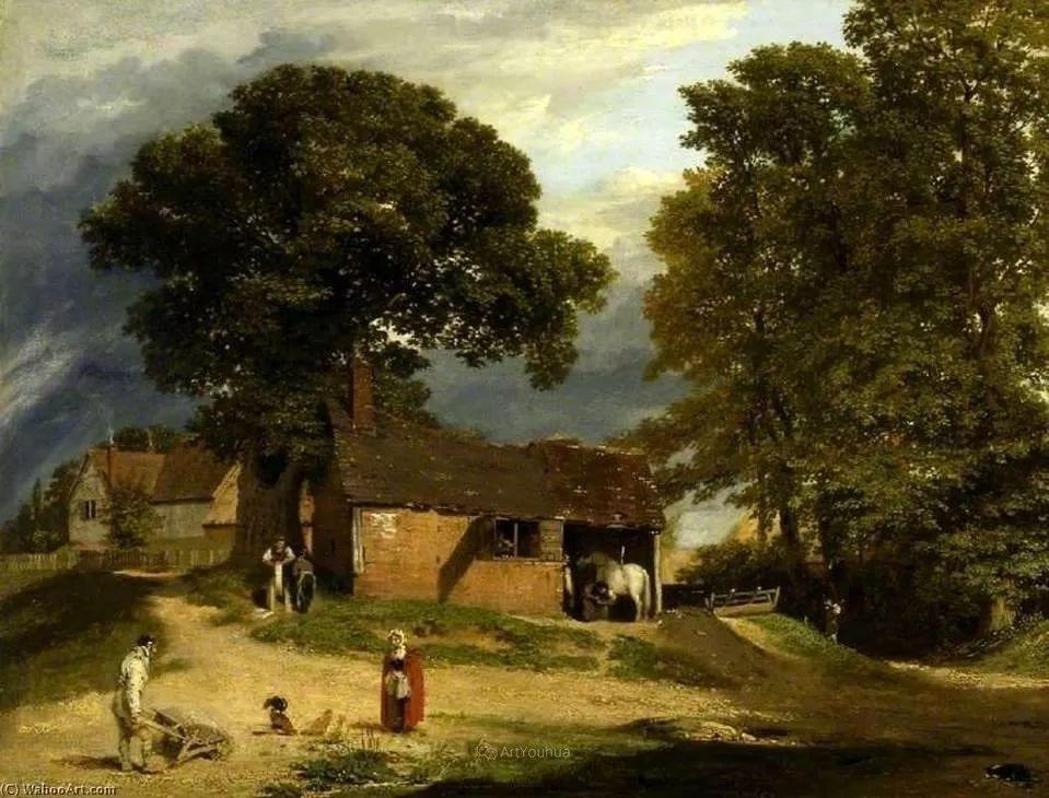 农村生活场景,爱尔兰画家威廉·穆雷迪插图4