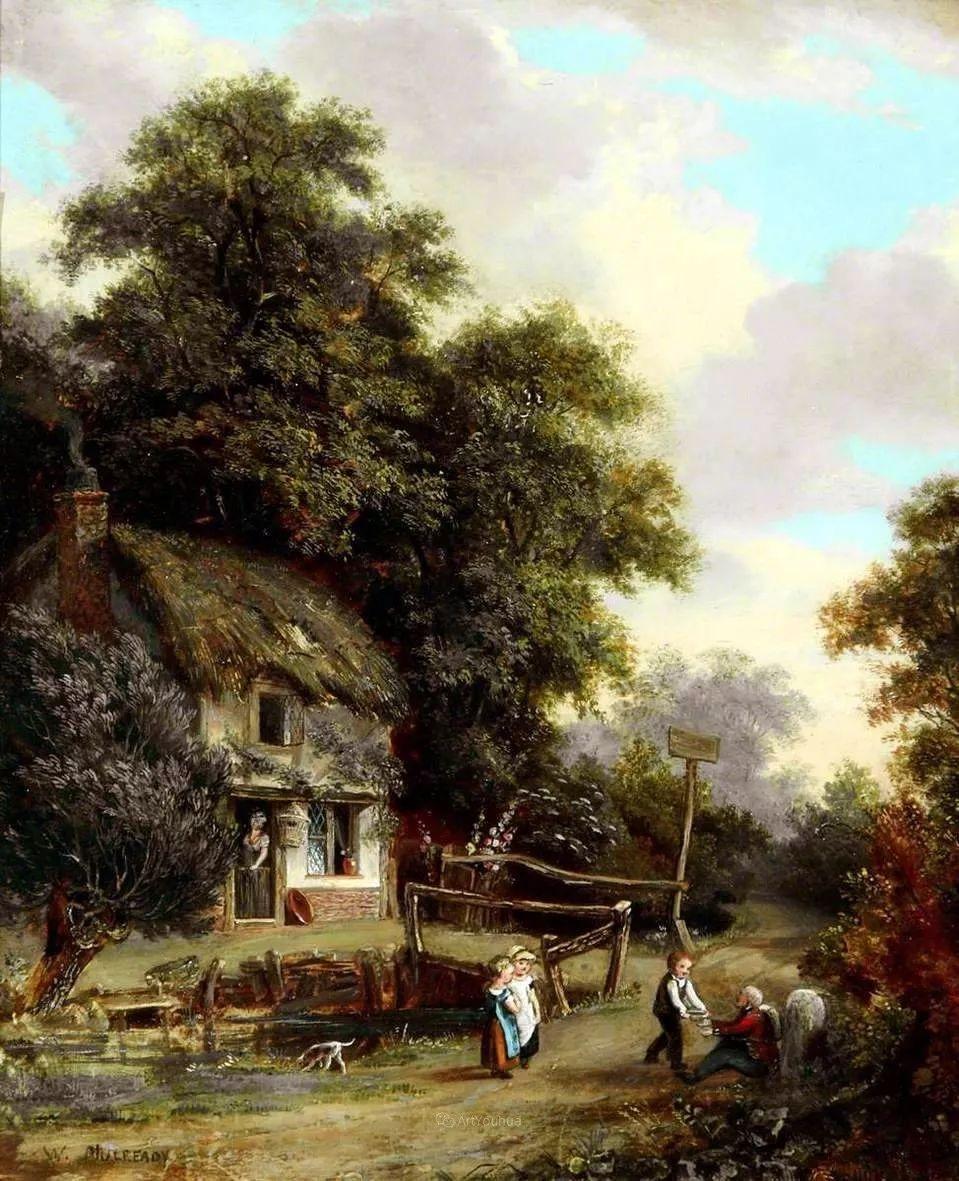 农村生活场景,爱尔兰画家威廉·穆雷迪插图5