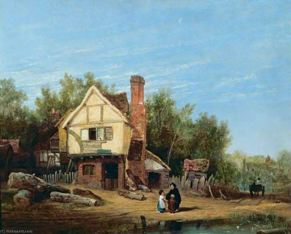 农村生活场景,爱尔兰画家威廉·穆雷迪插图6