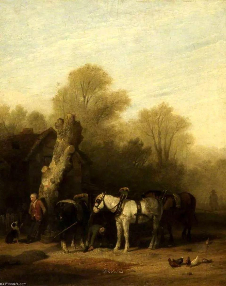 农村生活场景,爱尔兰画家威廉·穆雷迪插图7